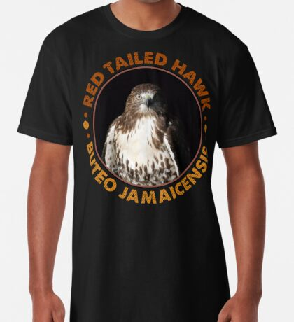 Beautiful Red Tailed Hawk Portrait For Falconers and Birders  Long T-Shirt