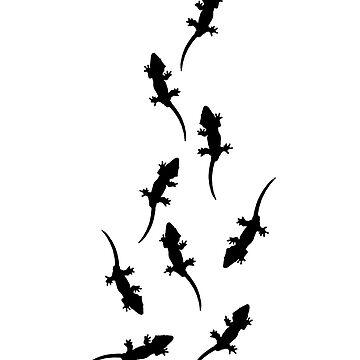 Lizard Walk 2 by FroghavenFarm