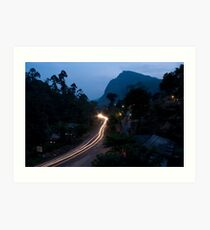 Ella Rock from the guesthouse balcony Art Print