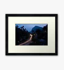 Ella Rock from the guesthouse balcony Framed Print