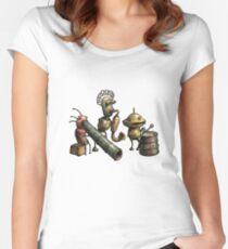 Machinarium's Jazz Band Women's Fitted Scoop T-Shirt