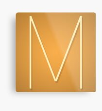 """M"" (MussoLive Logo) Metal Print"