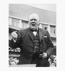 Winston Churchill Campaigning - 1945 Photographic Print