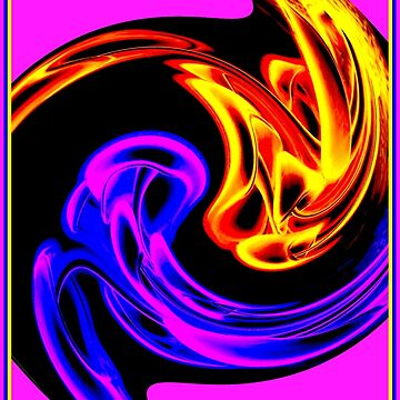 HOLOGRAPH : Psychedelic Abstract Print by posterbobs