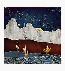Moonlit Desert Photographic Print