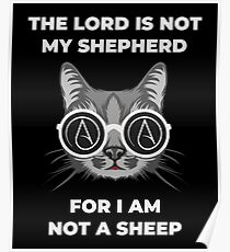 Funny Atheist Cat Poster