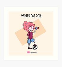 2018 World Cup - France flag Art Print