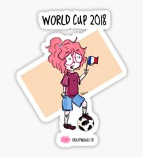 2018 World Cup - France flag Sticker