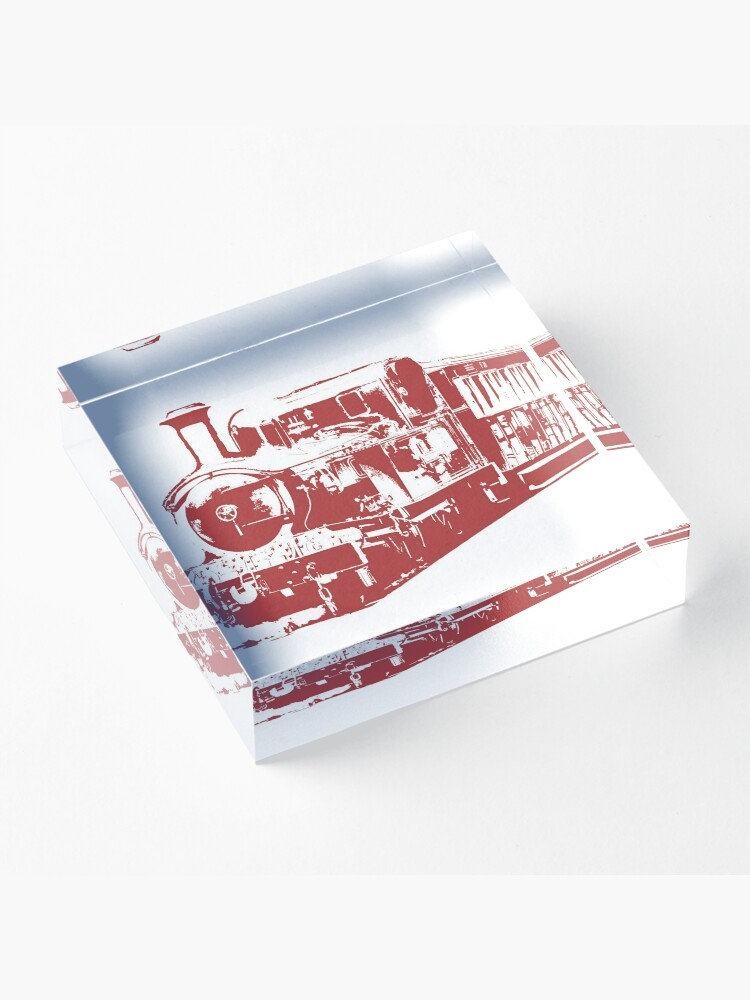 Alternate view of All Aboard Acrylic Block