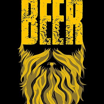 Distressed My Beard Needs Beer by lifestyleswag