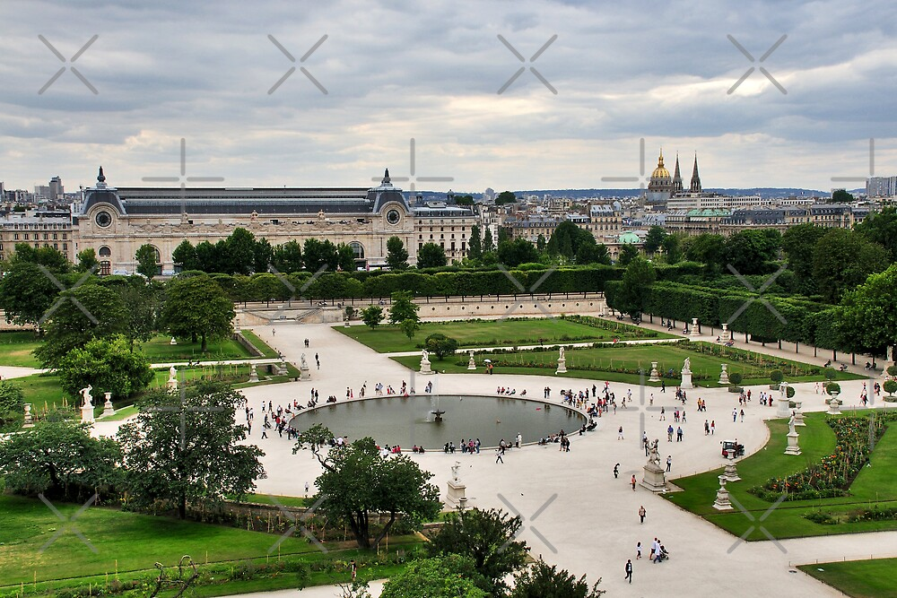 Les tuileries paris by maluc redbubble for Jardin tuileries