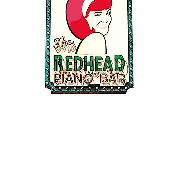Redhead Piano Bar by TeeArt