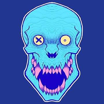 Cotton Candy Skull by GrotesqueGuts
