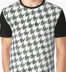 Black and White houndstooth pattern Graphic T-Shirt