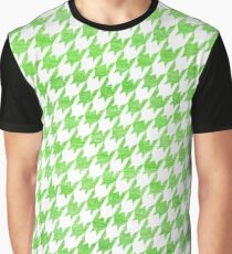Green and White houndstooth pattern Graphic T-Shirt