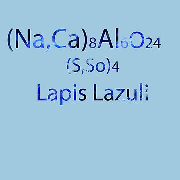 SU: Lapis Lazuli Chemical Formula by TheVioletWitch