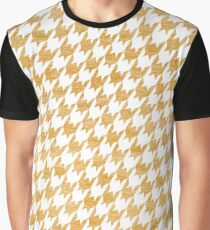 Orange and White houndstooth pattern Graphic T-Shirt