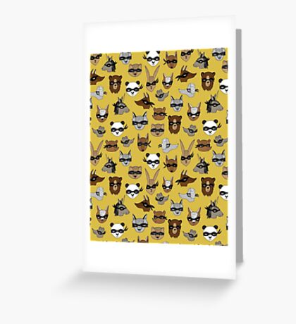Bandit Animals by Andrea Lauren  Greeting Card