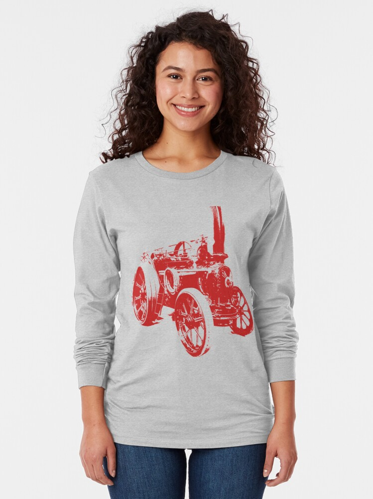 Alternate view of The Steam Tractor  Long Sleeve T-Shirt