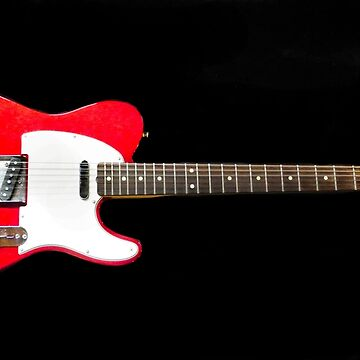 Horizontal Red Fender Telecaster by Langie