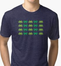 Space Alien Invaders Shirt | 80s Invaders Game Shirt Tri-blend T-Shirt