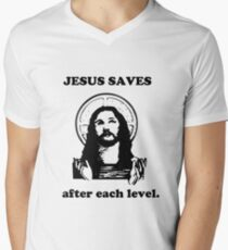 Jesus Saves after each level. T-Shirt