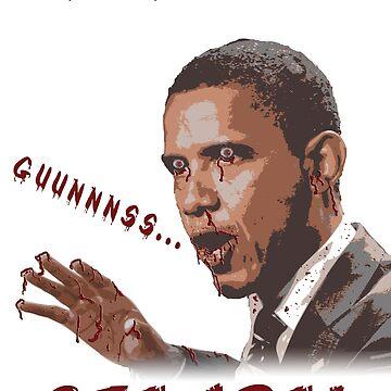 Ozamba - Obama Zombie Gun Confiscation Shirt by FlatheadMedia