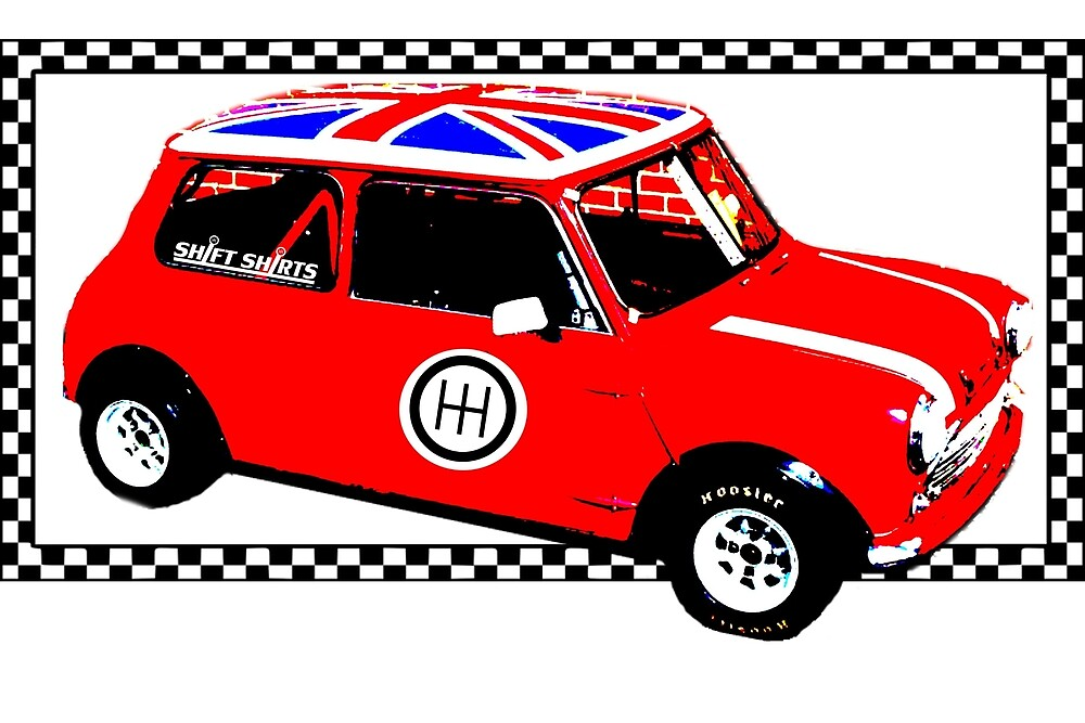 Shift Shirts Small Packages – Morris Mini Cooper Inspired by ShiftShirts