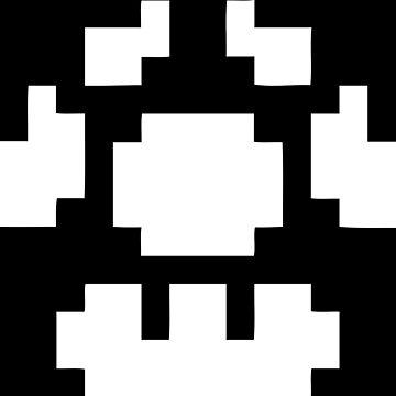 1UP Black - Super Mario Bros by Gustavinlavin