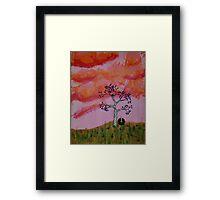 Nest at Sunset Framed Print