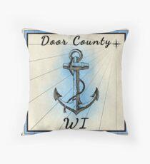 Door County Wisconsin  Throw Pillow