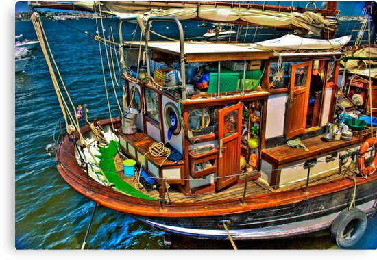 Fisherman  Boat by LudaNayvelt