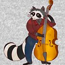 Cool Bass Playing Jazz Raccoon by TheMelodyBook