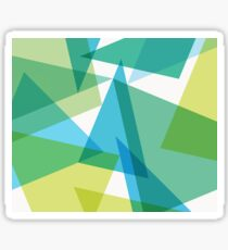 Abstract glass fragments Sticker