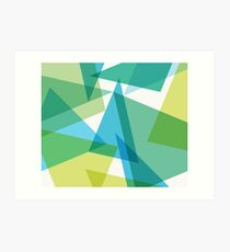 Abstract glass fragments Art Print