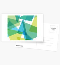 Abstract glass fragments Postcards
