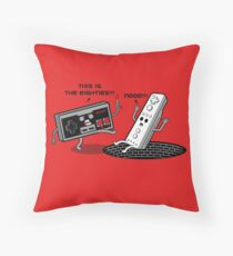 This is the eighties! Nes Throw Pillow