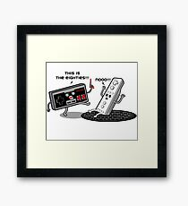 This is the eighties! Nes Framed Print