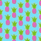 Pineapples (Summer Pink)  by wallpaperfiles
