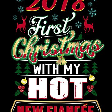First Christmas With Hot New Fiancee 2018 Engaged Couple by JapaneseInkArt