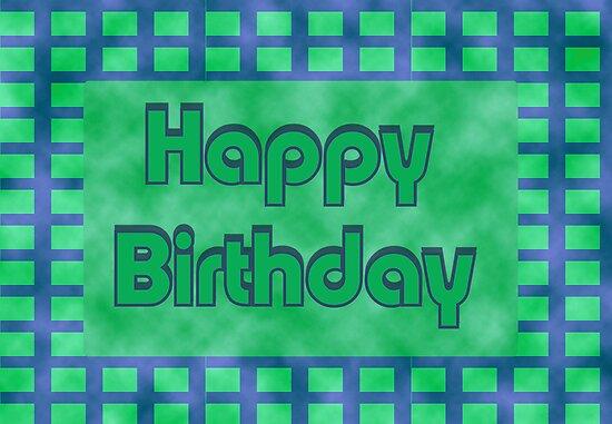 """Happy Birthday Green Block"" By Donna Grayson"