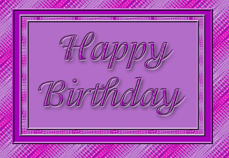 u0026quot pretty purple happy birthday u0026quot  greeting cards by