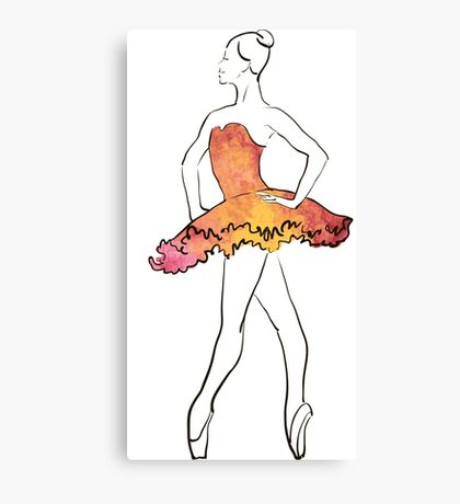 Ballerina-Figur, Aquarellillustration Leinwanddruck
