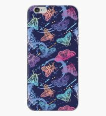 Colorful moths with splashes iPhone Case
