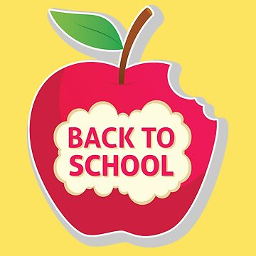 Back To School Apple | Teacher and Student Gift by overstyle