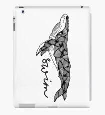 Humpback whale  | Swim swim swim iPad Case/Skin