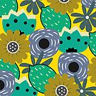 Fresh lemons and flowers by cocodes