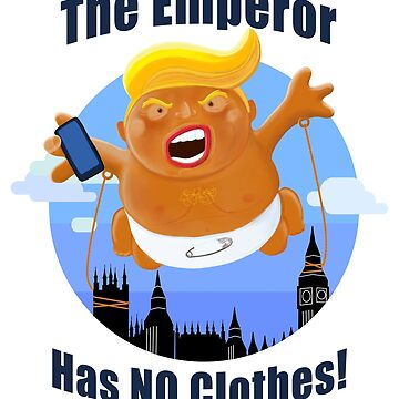 Trump Inflatable Baby Emperor Blimp Floating England Scotland by brodyquixote