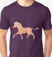 Zebra Orange and White Print T-Shirt