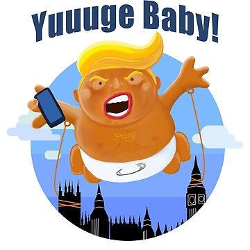 Trump Inflatable Huge Baby Blimp England Scotland Tour by brodyquixote